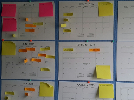 On planning & projects: this is what my office wall currently looks like.